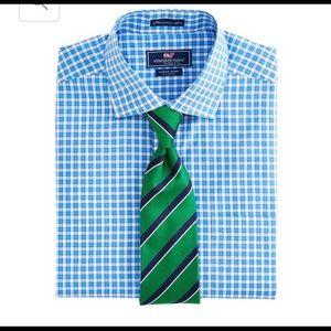 Men Vineyard Vines aqua blue shirt. It's perfect!